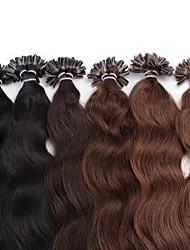 Mechas onda neitsi 20 '' 25g / lot onda natural a longo u unhas fusão ponta extensões de cabelo humano