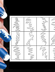 Недорогие -24pcs различные размеры профессиональная модель решений ногтей инструмент # 04