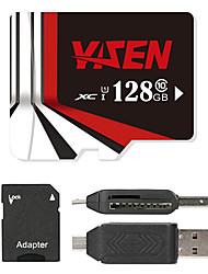 YISEN 128GB マイクロSDカードTFカード メモリカード UHS-I U1 クラス10