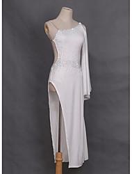 economico -dobbiamo abiti da ballo latino donne che bordano 1 pezzo vestito elegante stile