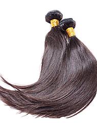 Недорогие -Бразильские волосы Классика Прямой силуэт Ткет человеческих волос 1 шт. Высокое качество 0.1 Повседневные