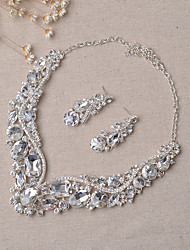 cheap -Women's Bridal Jewelry Sets Jewelry Set Party Wedding Party Earrings Necklaces