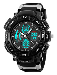 cheap -SKMEI Men's Sport Watch Digital Alarm Calendar / date / day Chronograph Water Resistant / Water Proof LED Noctilucent Stopwatch Dual Time