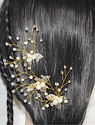 imitación perla rhinestone pelo pin tocado estilo femenino clásico