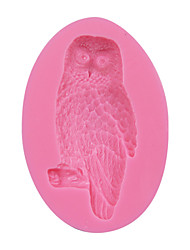 cheap -Owl Shape 3D Silicone Cake Fondant Mold,Cake Decoration Tools, Soap/Candle Moulds Sugar Cake Mold Tool SM-078