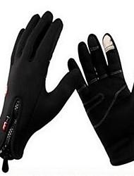 Недорогие -Зима Перчатки для велосипедистов Лыжные перчатки Горные велосипеды Сохраняет тепло С защитой от ветра Дышащий Противозаносный Спортивные перчатки Лайкра Сетка Силиконовый гель Черный для Взрослые