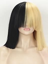 economico -Donna Parrucche sintetiche Medio Dritto Kinky liscia Biondo Parrucca Cosplay Parrucca di celebrità Parrucca di Halloween Parrucca di