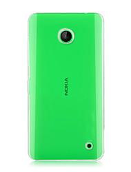 billige -For Nokia etui Transparent Etui Bagcover Etui Helfarve Hårdt PC for Nokia Nokia Lumia 630