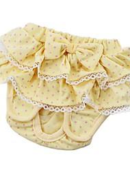 abordables -Gato Perro Pantalones Ropa para Perro Princesa Amarillo Azul Rosa Algodón Disfraz Para mascotas Hombre Mujer Bonito
