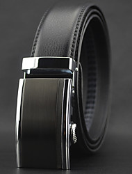 cheap -Men Casual Automatic Buckle Business Waist Belt Work / Casual Alloy / Leather Black All Seasons