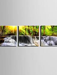 cheap -Landscape Modern, Three Panels Canvas Square Print Wall Decor Home Decoration