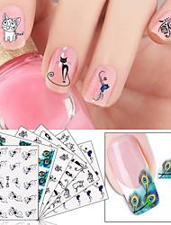 6pcs Nail Art Sticker Vand Transfer Decals Makeup Cosmetic Nail Art Design