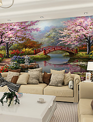 cheap -JAMMORY 3D Wallpaper For Home Contemporary Wall Covering Canvas Material Painting Bridges and Water XL XXL XXXL