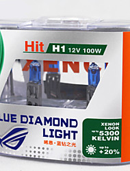 XENCN H1 12V 100W 5300K Xenon Blue Diamond Light Car Headlight UV Filter Halogen Super White HeadLamp