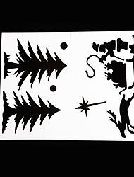 Недорогие -Рождественский декор Товары для Рождественской вечеринки Товары для отпуска 10Pcs Рождество Бумага черный увядает