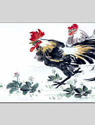 Peint à la main Abstrait Animal Peinture à l'huile + Prints,Moderne Classique Un Panneau Toile Peinture à l'huile Hang-peint For