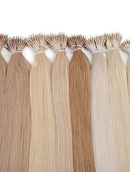 Neitsi 20'' Straight Nano Ring Links Human Hair Extensions 25g/lot 1g/s 100% Remy Hair