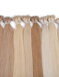 neitsi 20 '' droites liens anneau de nano extensions de cheveux humains 25g / lot 1g / s 100% cheveux remy