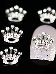 10pcs anniversaire couronne en strass accessoires en alliage de bricolage nail art décoration