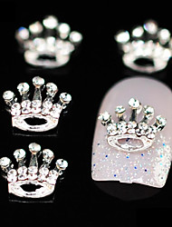 10stk fødselsdag rhinestone Crown DIY legering tilbehør nail art dekoration