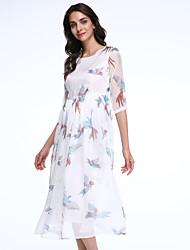 vintage das mulheres maxlindy sair / partido / vestido de chiffon sofisticados