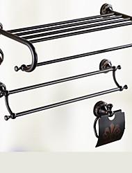 Set di accessori per il bagno Antiquariato 140 63 Portasciugamani a muro Appendi-accappatoio Mensola per il bagno Porta sapone da doccia