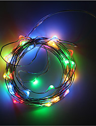 cheap -3AA Battery Powered 5M 50 LED Strip Copper Wire lights Decoration Holiday Lighting With Battery Box LED String Light