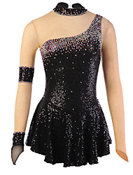 Figure Skating Dress Women's Girls' Ice Skating Dress Spandex Rhinestone Sequined High Elasticity Performance Practise Skating Wear