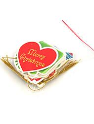Недорогие -Рождественские открытки и наклейки Рождественский декор Товары для Рождественской вечеринки Бумага Взрослые Игрушки Подарок 5 pcs