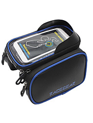 Bike Frame Bag Cell Phone Bag 5.5/6.2 inch Waterproof Rain-Proof Waterproof Zipper Wearable Phone/Iphone Touch Screen Cycling for Iphone