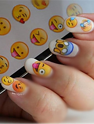 1 Nail Art Sticker Decalcomanie trasferimento di acqua makeup Cosmetic Nail Art Design