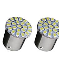 2x Super Bright White 22 LED 3020 SMD Ba15s 1156 Car Rear Turn Light Signal  Bulb 12V