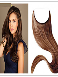 cheap -Flip In Human Hair Extensions Straight Human Hair Brazilian Hair Women's Daily