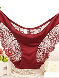 Women's Lace Solid Ultra Sexy Panties Briefs  Underwear,Polyester