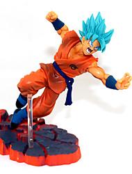 abordables -Las figuras de acción del anime Inspirado por Bola de Dragón Son Goku PVC 14 CM Juegos de construcción muñeca de juguete