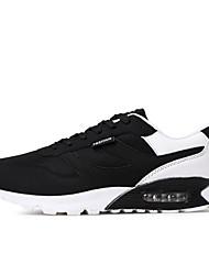 abordables -Femme-Décontracté Sport-Gris Noir et rouge Noir / Bleu Noir blanc-Talon Plat-Confort-Chaussures d'Athlétisme-Polyuréthane