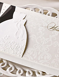 cheap -Folded Wedding Invitations 50 - Invitation Cards Bride & Groom Style Card Paper Kit