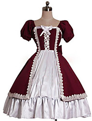 cheap -Sweet Lolita Dress Princess Women's One Piece Dress Cosplay Puff/Balloon Short Sleeves