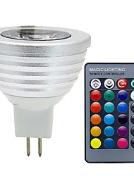 cheap -3W 280lm GU5.3(MR16) LED Spotlight MR16 1 LED Beads COB Dimmable Decorative Remote-Controlled RGB 12V