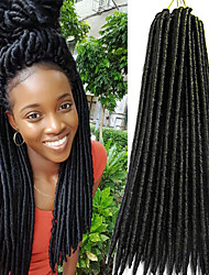 Faux Locs Crochet Braids Twist havana mambo Hair Extensions African Braiding Kanekalon Soft Dread Locks 24roots/pack synthetic hair braiding