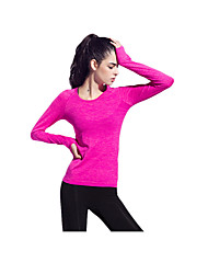 Yokaland Women's Running T-Shirt Long Sleeves Quick Dry Breathable Reduces Chafing Sweat-wicking Comfortable Protective Top for Yoga