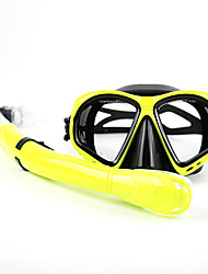 Diving Masks Diving Packages Snorkels Swim Mask Goggle Snorkel Set Diving / Snorkeling Swimming PVC Glass silicone for Unisex