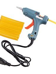 Недорогие -Инструменты для наращивания Клей Пеллеты Высокое качество 1Pcs EU Plug Glue Gun + 12Pcs Glue Sticks Классика Повседневные