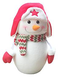 Peluches Poupées Jouets Articles d'ameublement Bonhomme de neige Nylon Coton 1 Pièces Nouvel an Le Jour des enfants Cadeau