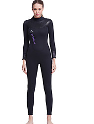 cheap -Dive&Sail Women's 3mm Thick Full Wetsuit Waterproof Thermal / Warm Quick Dry Ultraviolet Resistant Front Zipper Wearable Breathable Soft
