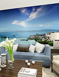 Недорогие -Цветочные Ар деко 3D Обои Для дома Современный Облицовка стен , Холст материал Клей требуется фреска , номер Wallcovering