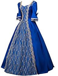 cheap -Princess Gothic Lolita Dress Sweet Lolita Dress Classic Lolita Dress Rococo Elegant Victorian Lace Dress Cosplay Blue Long Sleeve Halloween Costumes / Punk Lolita Dress