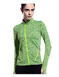 abordables -Mujer Camiseta de running - Rojo, Verde, Azul Deportes Moda Camiseta / Top Manga Larga Ropa de Deporte Secado rápido, Transpirable,