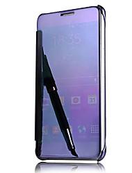 Недорогие -Кейс для Назначение SSamsung Galaxy A5(2016) A3(2016) С функцией автовывода из режима сна Покрытие Зеркальная поверхность Флип Чехол