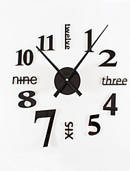 DIY Ultra Large Fashion Simple Modern Acrylic Metal Mute Wall Clock